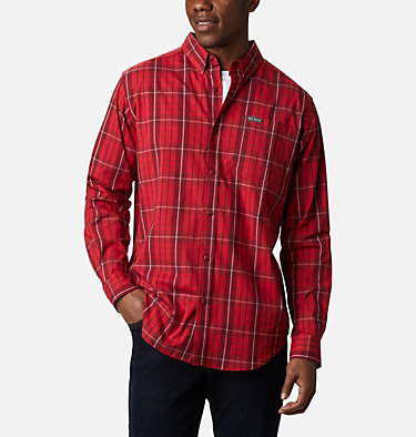 Men's Rapid Rivers™ II Long Sleeve Shirt Rapid Rivers™ II Long Sleeve Shirt | 847 | M, Red Jasper Traditional Plaid, front