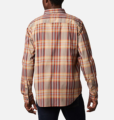 Men's Rapid Rivers™ II Long Sleeve Shirt Rapid Rivers™ II Long Sleeve Shirt | 847 | M, Flame Orange Multi Plaid, back