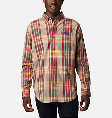Men's Rapid Rivers™ II Long Sleeve Shirt Rapid Rivers™ II Long Sleeve Shirt | 847 | M, Flame Orange Multi Plaid, front