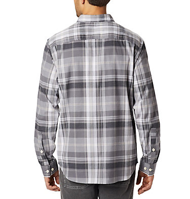 Chemise à manches longues Rapid Rivers™ II pour homme - grandes tailles Rapid Rivers™ II Long Sleeve Shirt | 614 | 2X, City Grey Plaid, back
