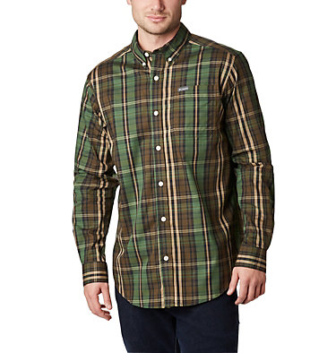 Chemise à manches longues Rapid Rivers™ II pour homme - grandes tailles Rapid Rivers™ II Long Sleeve Shirt | 614 | 2X, Green Multi Plaid, front