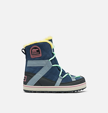 Women's Glacy Explorer™ Shortie Boot GLACY™ EXPLORER SHORTIE | 053 | 5.5, Collegiate Navy, front