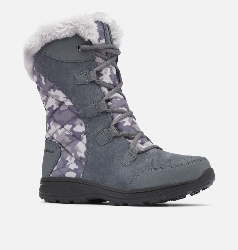 ICE MAIDEN™ II | 053 | 5.5 Women's Ice Maiden™ II Boot, Graphite, Plum Purple, 3/4 front