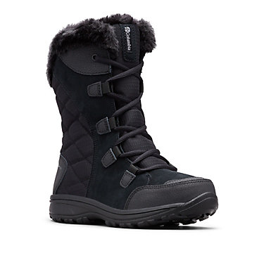 Women's Ice Maiden™ II Boot - Wide ICE MAIDEN™ II WIDE | 011 | 11, Black, Columbia Grey, 3/4 front