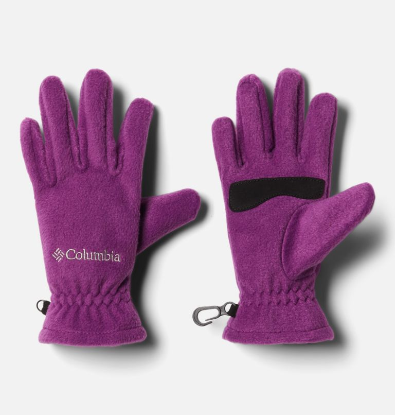Youth Thermarator™ Glove | 575 | S Kids' Thermarator™ Omni-Heat™ Fleece Gloves, Plum, front