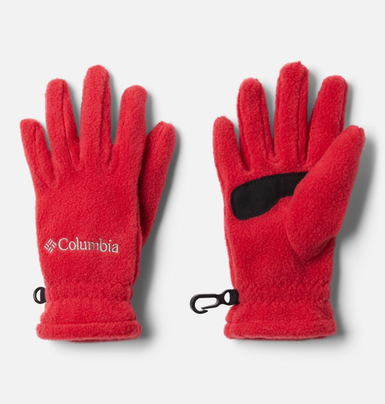 Youth Fast Trek™ Glove | 613 | L Kids' Fast Trek™ Fleece Gloves, Mountain Red, front