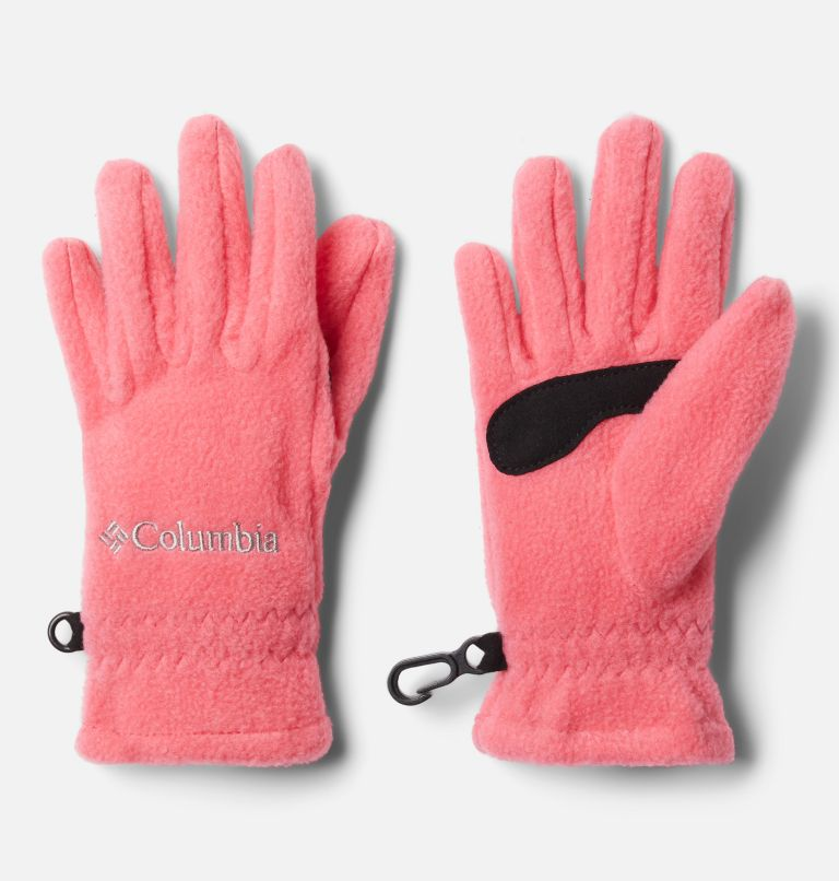 Youth Fast Trek™ Glove | 673 | M Kids' Fast Trek™ Fleece Gloves, Bright Geranium, front