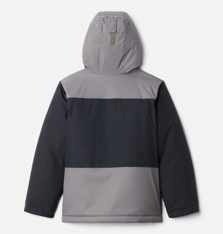 Lightning Lift™ Jacket | 023 | XXS Boys' Lightning Lift™ Jacket, Black, City Grey, back