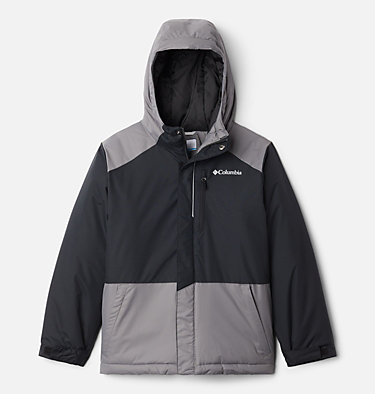 Boys' Lightning Lift™ Jacket Lightning Lift™ Jacket | 433 | XL, Black, City Grey, front