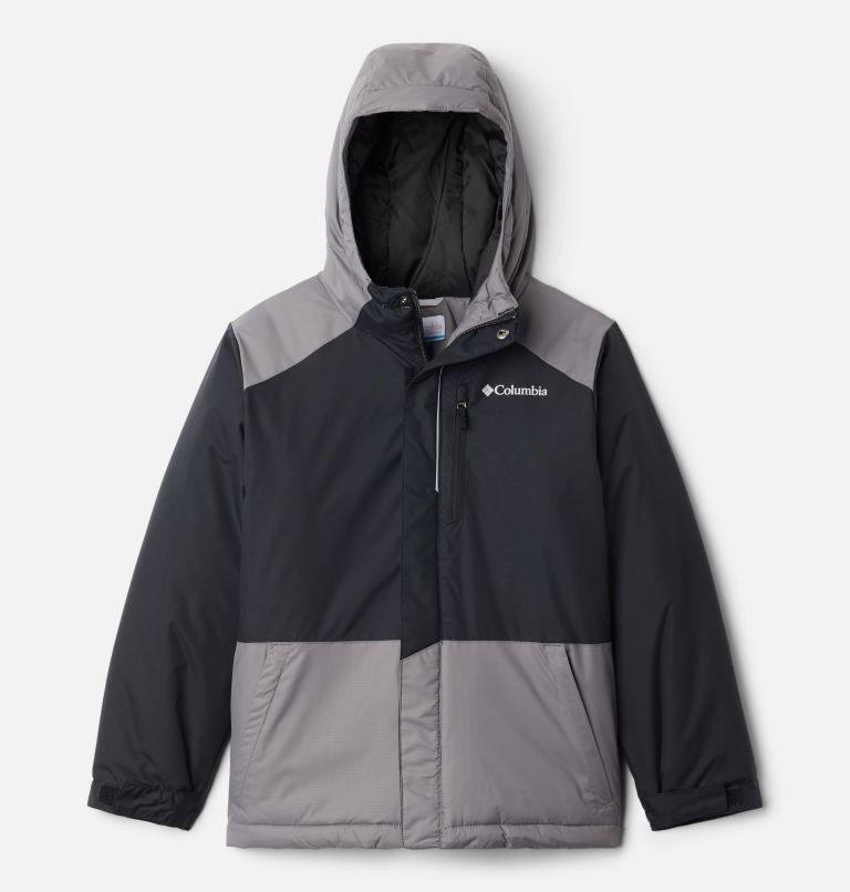 Lightning Lift™ Jacket | 023 | XXS Boys' Lightning Lift™ Jacket, Black, City Grey, front