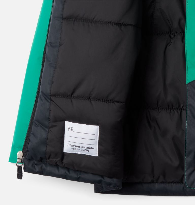 Lightning Lift™ Jacket | 374 | S Boys' Lightning Lift™ Jacket, Emerald Green, Black, a1
