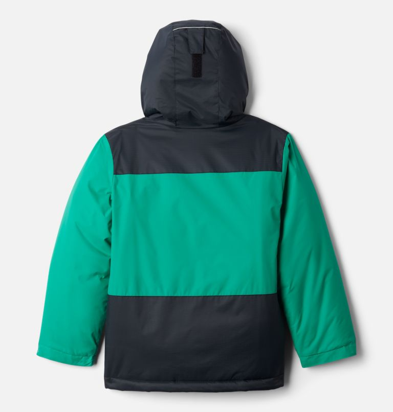Lightning Lift™ Jacket | 374 | S Boys' Lightning Lift™ Jacket, Emerald Green, Black, back