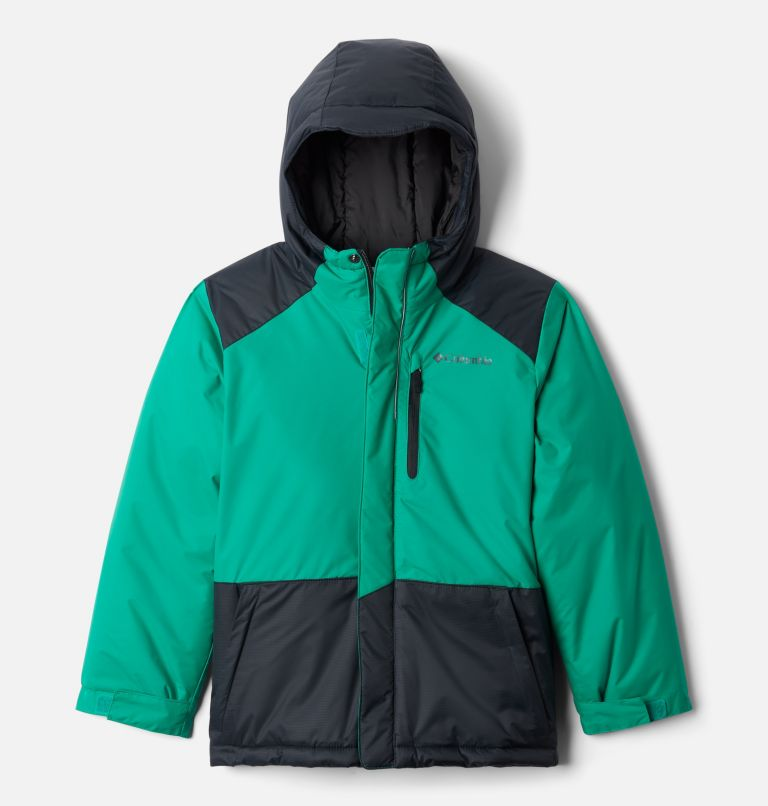 Lightning Lift™ Jacket | 374 | S Boys' Lightning Lift™ Jacket, Emerald Green, Black, front