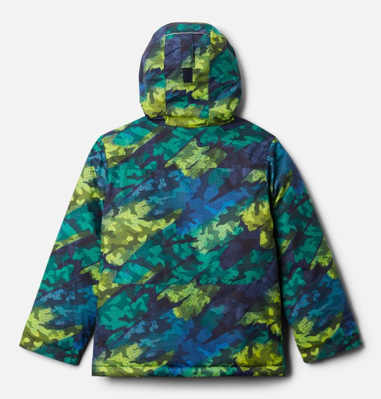 Lightning Lift™ Jacket   386   M Boys' Lightning Lift™ Jacket, Bright Chartreuse Brushed Camo Print, back