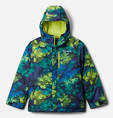 Manteau Lightening Lift pour garçon Lightning Lift™ Jacket | 617 | XS, Bright Chartreuse Brushed Camo Print, front