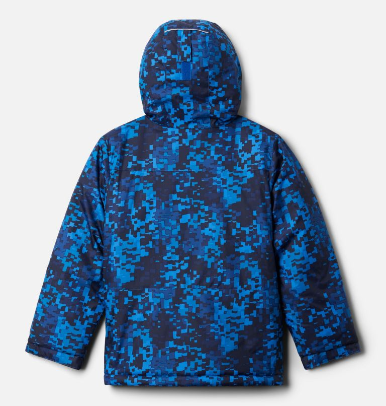 Lightning Lift™ Jacket | 433 | XL Boys' Lightning Lift™ Jacket, Bright Indigo Weave Print, back