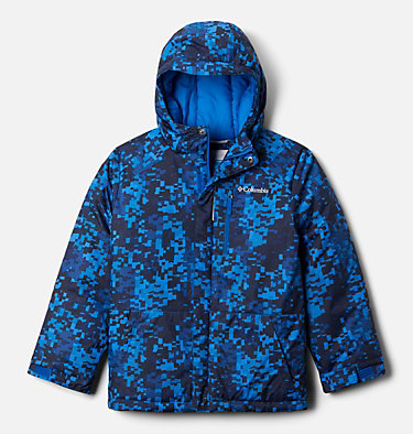 Boys' Lightning Lift™ Jacket Lightning Lift™ Jacket | 433 | XL, Bright Indigo Weave Print, front