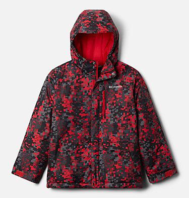 Manteau Lightening Lift pour garçon Lightning Lift™ Jacket | 617 | XS, Mountain Red Weave Print, front