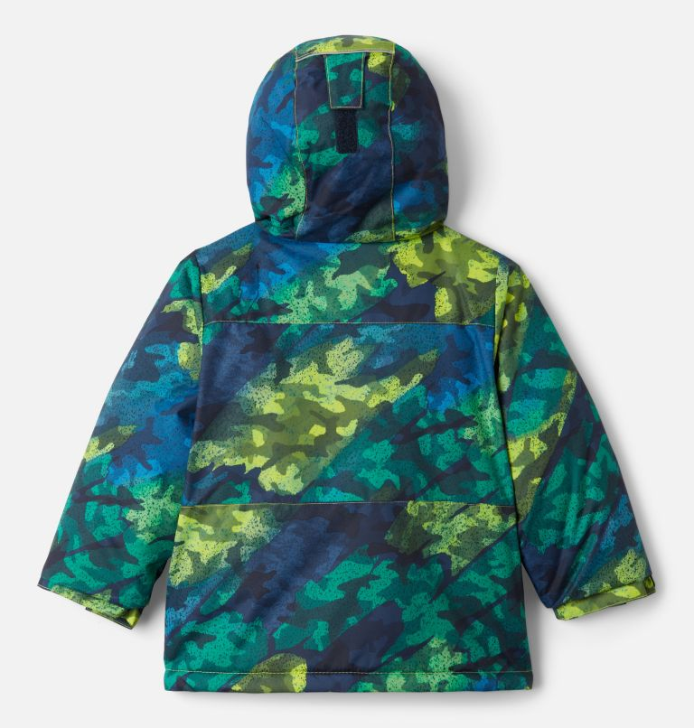 Lightning Lift™ Jacket | 386 | 3T Boys' Toddler Lightning Lift™ Jacket, Bright Chartreuse Brushed Camo Print, back