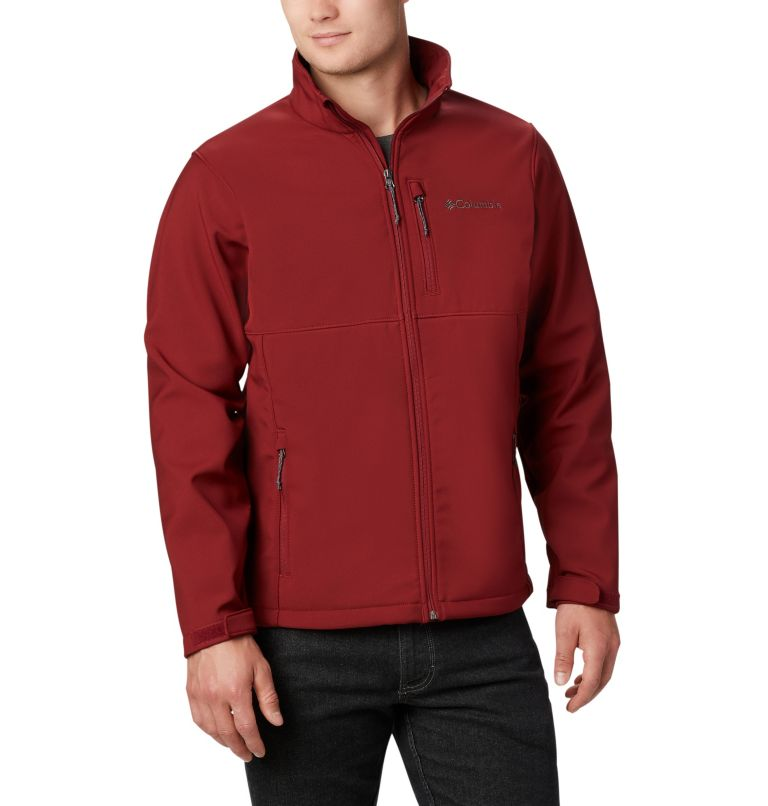 Ascender™ Softshell Jacket | 664 | XL Men's Ascender™ Softshell Jacket, Red Jasper, front