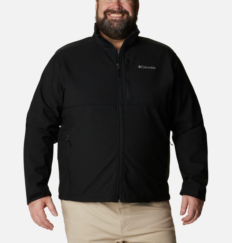 Ascender™ Softshell Jacket | 010 | 1X Men's Ascender™ Softshell Jacket - Big, Black, front