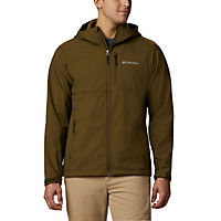 Columbia Mens Ascender Hooded Softshell Jacket (Olive Green)