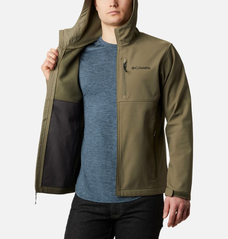 Ascender™ Hooded Softshell Jacket | 397 | M Men's Ascender™ Hooded Softshell Jacket, Stone Green, a3