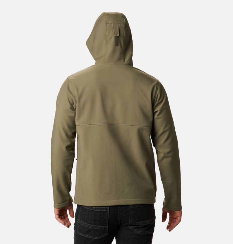 Ascender™ Hooded Softshell Jacket | 397 | M Men's Ascender™ Hooded Softshell Jacket, Stone Green, back