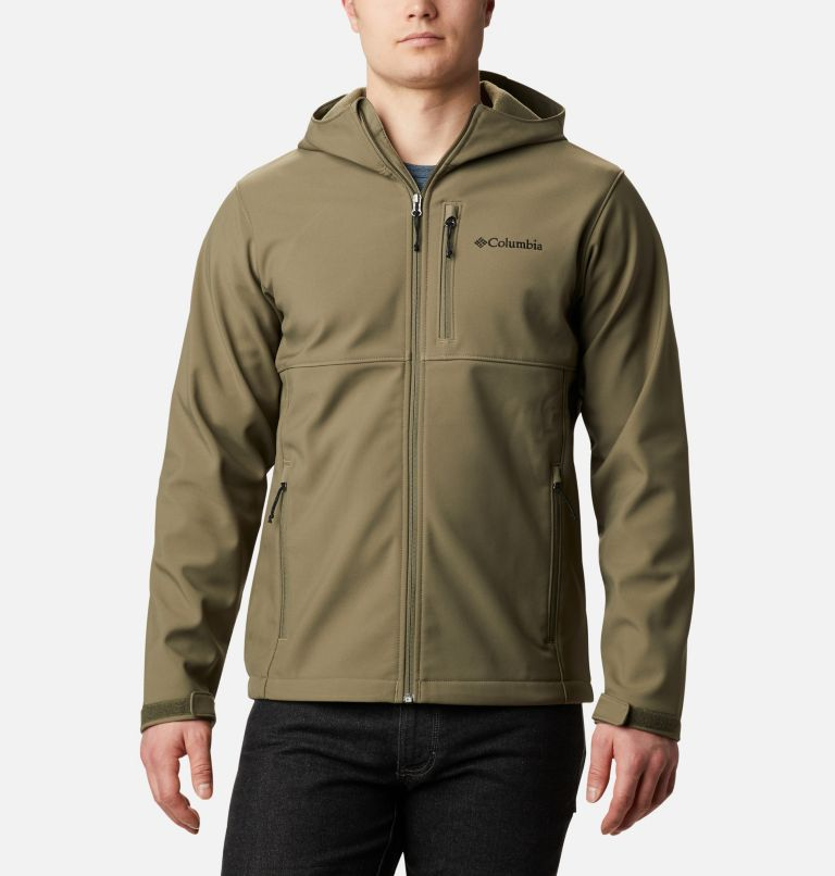 Ascender™ Hooded Softshell Jacket | 397 | M Men's Ascender™ Hooded Softshell Jacket, Stone Green, front