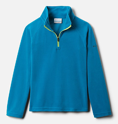 Girls' Glacial™ Fleece Half Zip Jacket Glacial™ Fleece Half Zip | 462 | XS, Fjord Blue, front