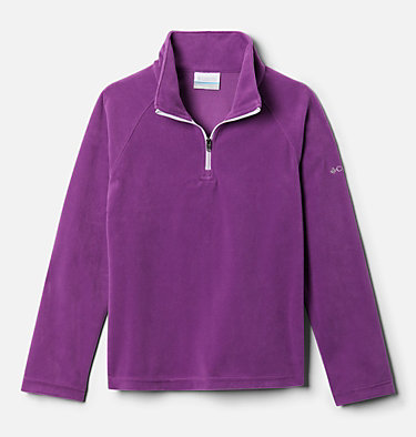 Girls' Glacial™ Fleece Half Zip Jacket Glacial™ Fleece Half Zip | 462 | XS, Plum, front