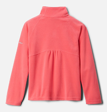 Girls' Glacial™ Fleece Half Zip Jacket Glacial™ Fleece Half Zip | 462 | XS, Bright Geranium, back