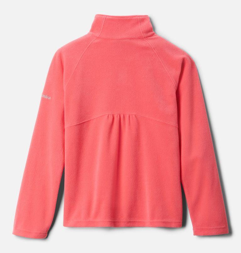 Glacial™ Fleece Half Zip   673   S Girls' Glacial™ Fleece Half Zip Jacket, Bright Geranium, back