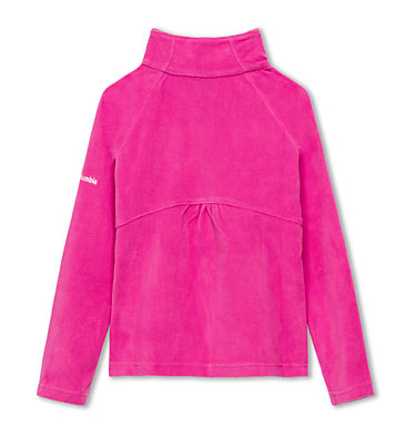 Girls' Glacial™ Fleece Half Zip Jacket Glacial™ Fleece Half Zip | 695 | L, Pink Ice, back