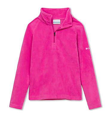 Girls' Glacial™ Fleece Half Zip Jacket Glacial™ Fleece Half Zip | 462 | XS, Pink Ice, front