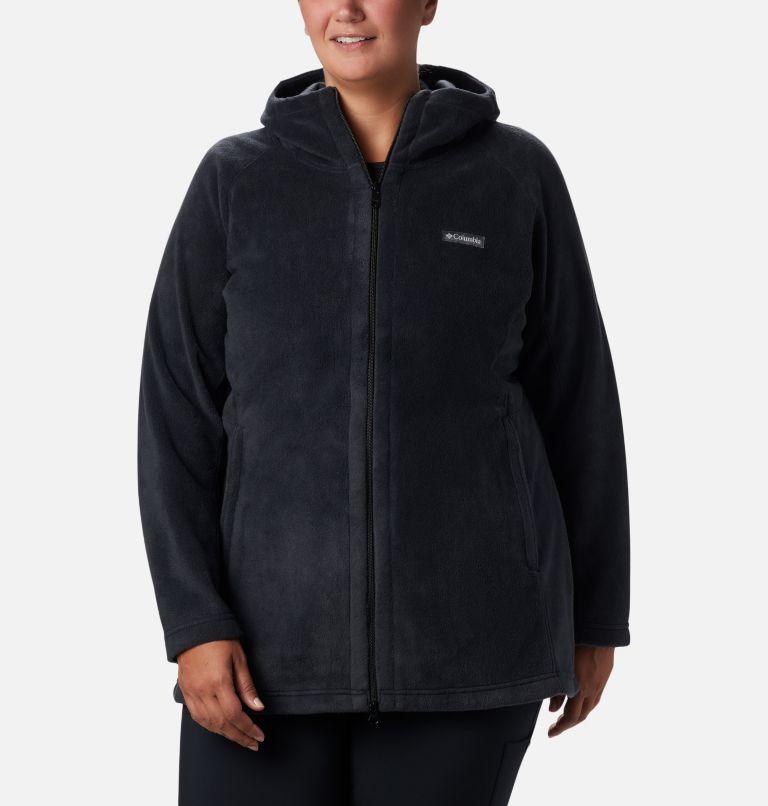 Benton Springs™ II Long Hoodie | 010 | 2X Veste à capuchon longue Benton Springs™ II pour femme - Grandes tailles, Black, front