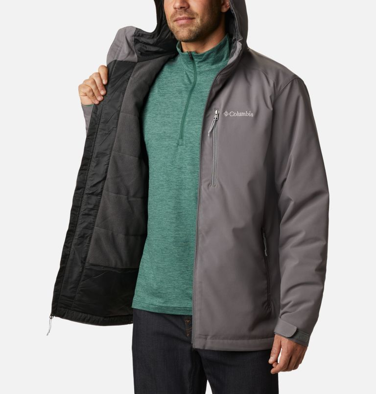 Gate Racer™ Softshell | 023 | XXL Men's Gate Racer™ Insulated Softshell Jacket, City Grey, a3