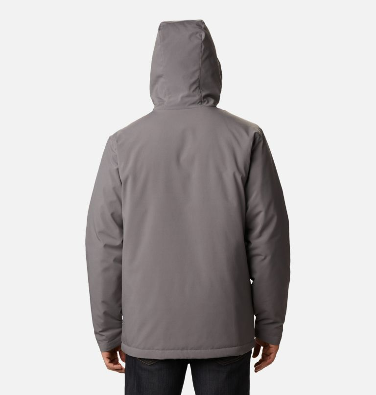 Gate Racer™ Softshell | 023 | S Men's Gate Racer™ Insulated Softshell Jacket, City Grey, back