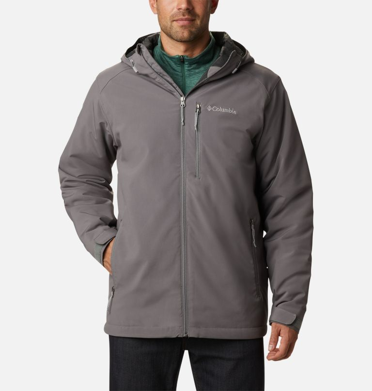 Gate Racer™ Softshell | 023 | XXL Men's Gate Racer™ Insulated Softshell Jacket, City Grey, front