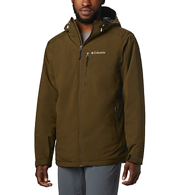 Men's Gate Racer™ Insulated Softshell Jacket Gate Racer™ Softshell | 452 | L, Olive Green, front