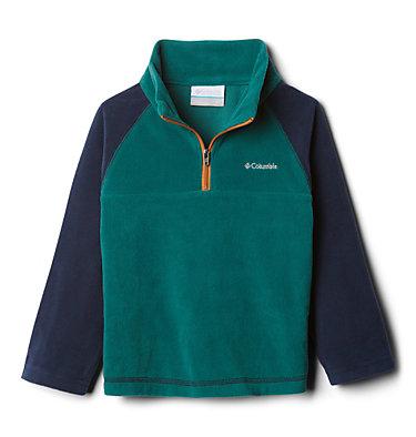 Veste à demi-fermeture éclair en laine polaire Glacial™ pour garçon Glacial™ Half Zip | 010 | XXS, Pine Green, Collegiate Navy, front