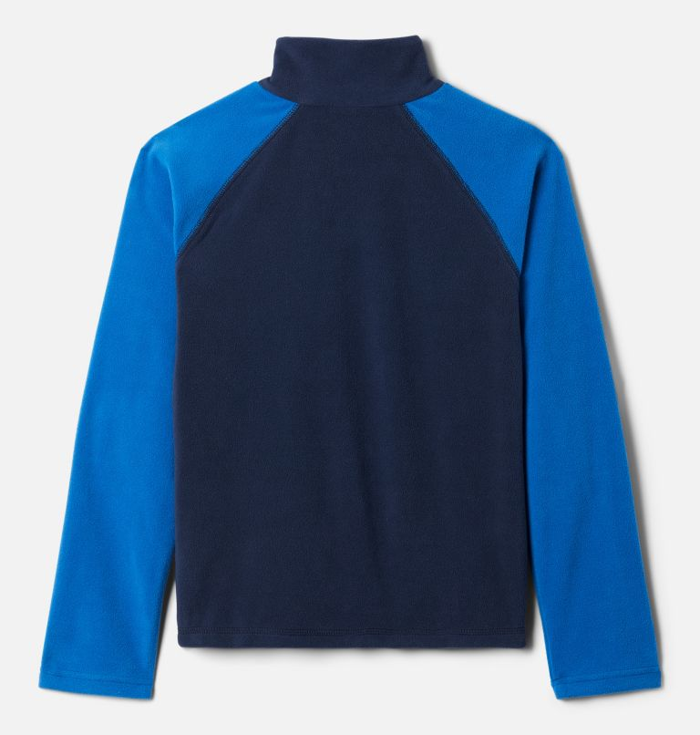 Glacial™ Half Zip | 468 | S Boys' Glacial™ Fleece 1/4 Zip Pullover, Collegiate Navy, Bright Indigo, back