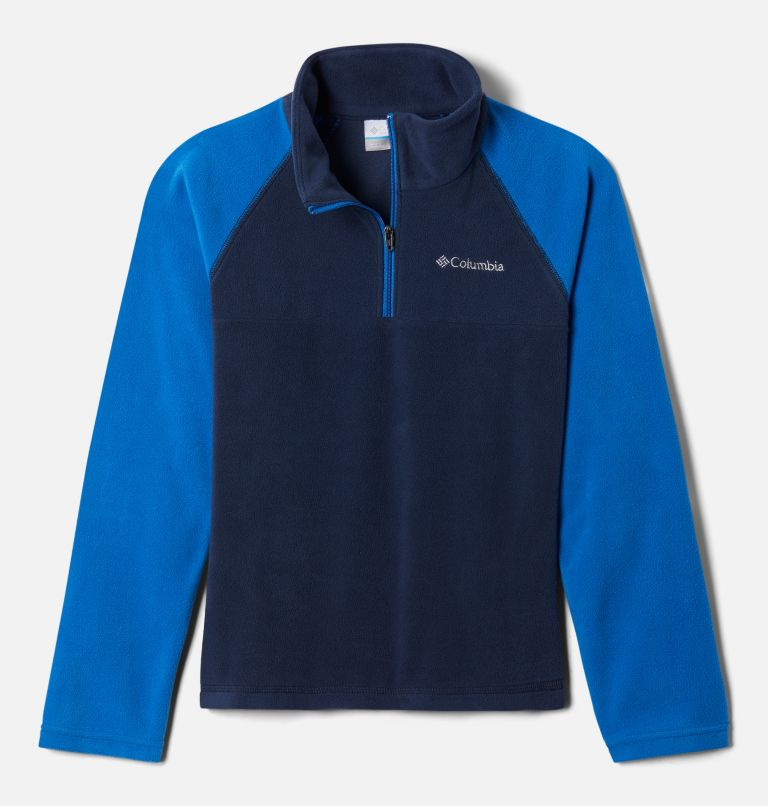 Glacial™ Half Zip | 468 | S Boys' Glacial™ Fleece 1/4 Zip Pullover, Collegiate Navy, Bright Indigo, front