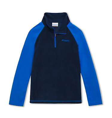 Boys' Glacial™ Fleece Half Zip Jacket Glacial™ Half Zip | 023 | XS, Collegiate Navy, Super Blue, front