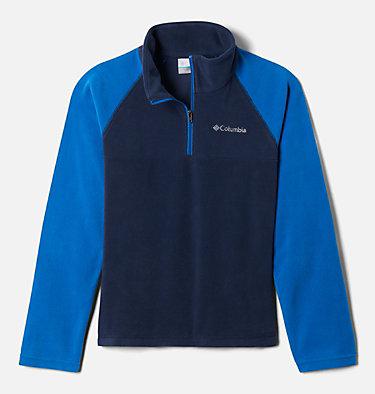 Boys' Glacial™ Fleece Half Zip Jacket Glacial™ Half Zip | 010 | XS, Collegiate Navy, Bright Indigo, front