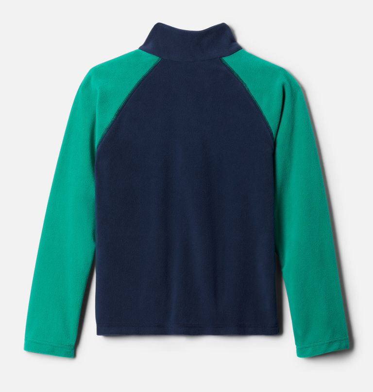 Glacial™ Half Zip | 469 | M Boys' Glacial™ Fleece Half Zip Jacket, Collegiate Navy, Emerald Green, back