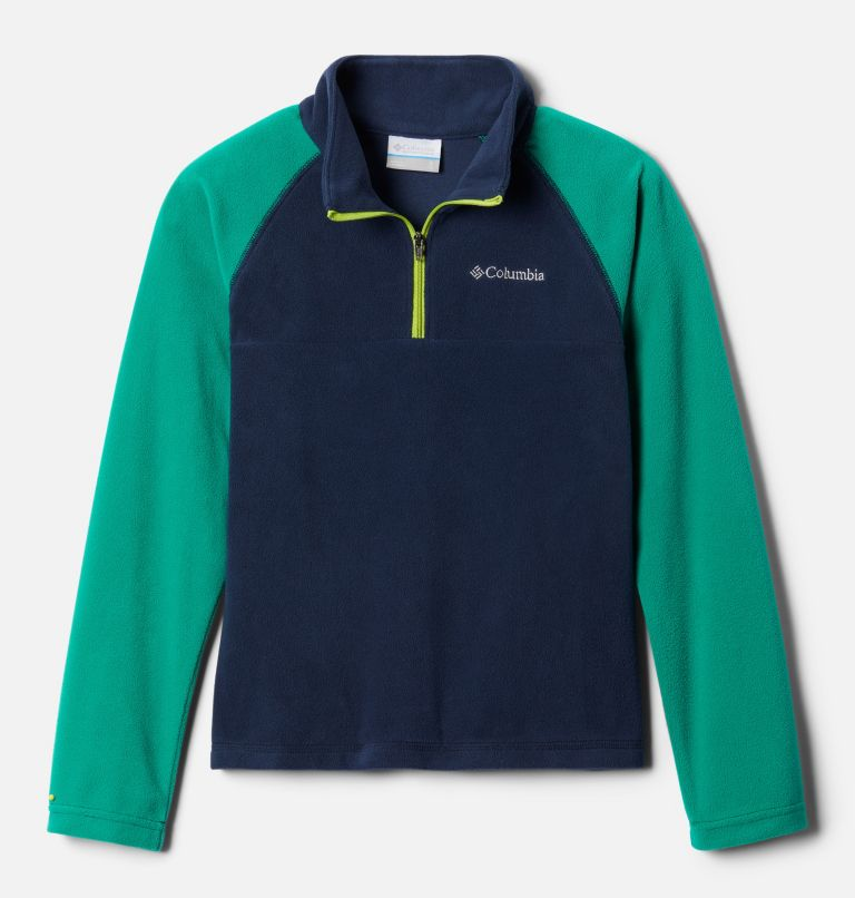 Glacial™ Half Zip | 469 | M Boys' Glacial™ Fleece Half Zip Jacket, Collegiate Navy, Emerald Green, front