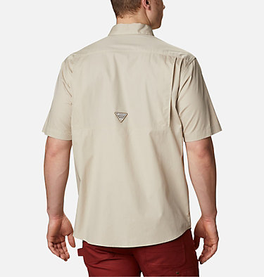 Men's PHG Sharptail™ Short Sleeve Shirt Sharptail™ Short Sleeve Shirt | 466 | L, Fossil, RT Edge, back
