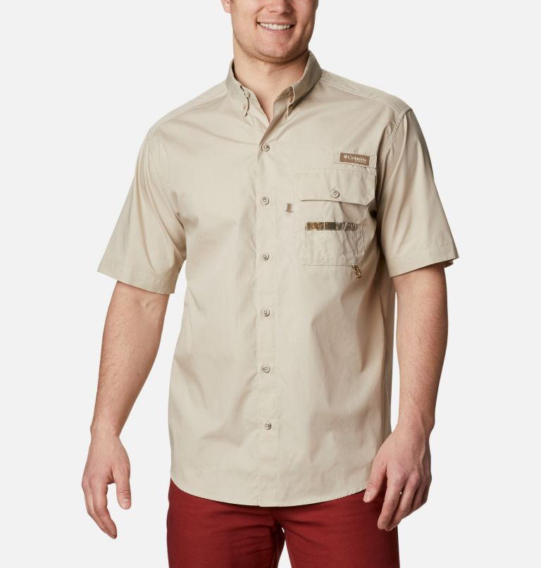 Sharptail™ Short Sleeve Shirt | 162 | XXL Men's PHG Sharptail™ Short Sleeve Shirt, Fossil, RT Edge, front