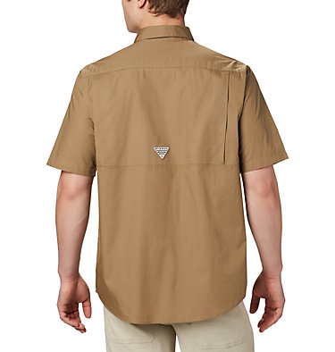 Men's PHG Sharptail™ Short Sleeve Shirt Sharptail™ Short Sleeve Shirt | 466 | L, Flax, RT Edge, back
